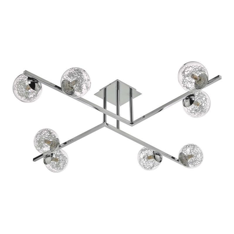 Dar-TAG4850 - Taghrid - Decorative Glass & Chrome 8 Light Ceiling Lamp