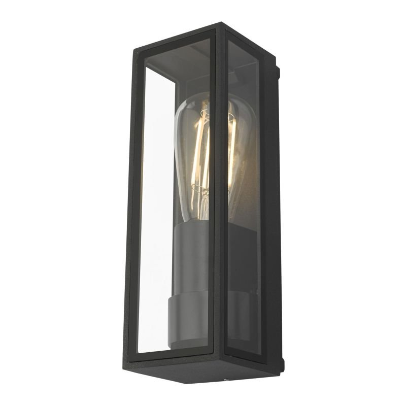 Dar-TAR1639 - Taryn - Outdoor Anthracite with Clear Glass Wall Lamp