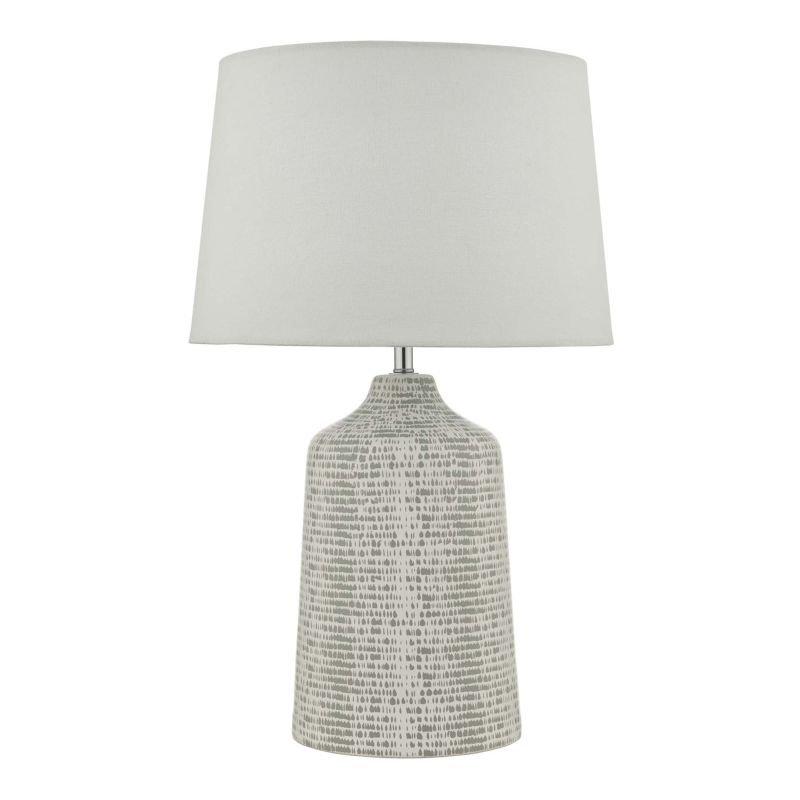 Dar-VON4239 - Vondra - Ivory Shade & Grey Ceramic Table Lamp