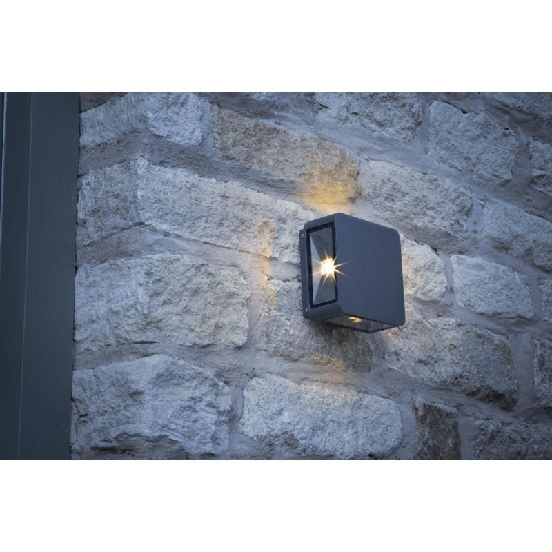 Dar-WEI2139 - Weiss - LED Outdoor Square Anthracite Wall lamp
