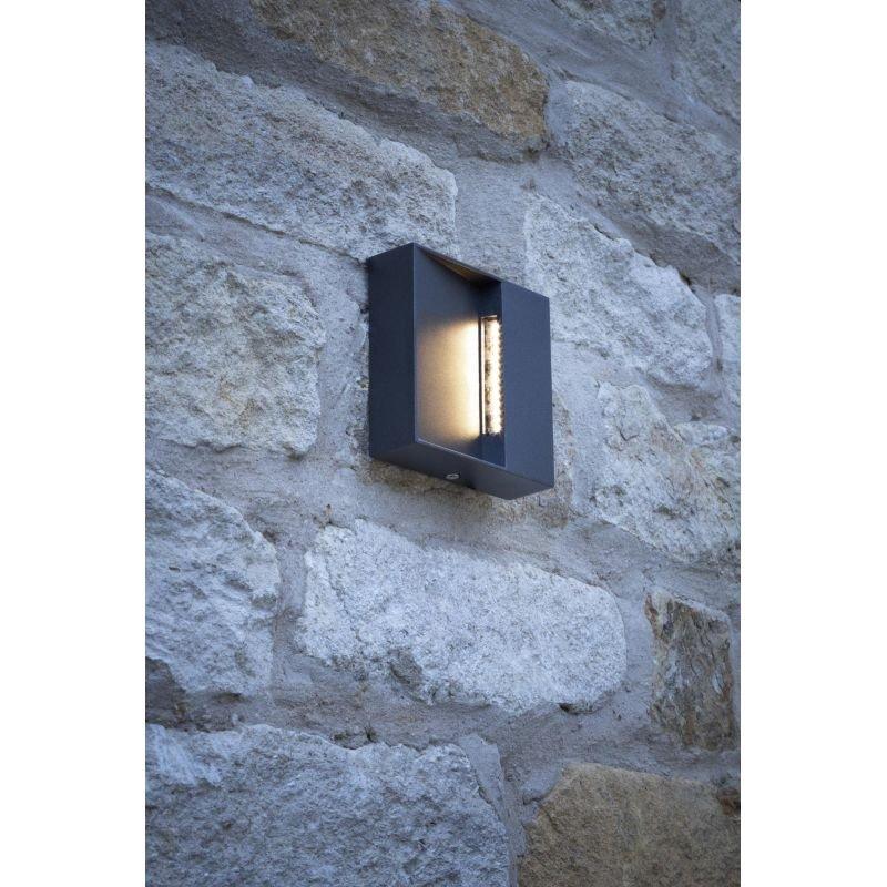 Dar-YUK2139 - Yukon - LED Square Eyelid Anthracite Wall Lamp
