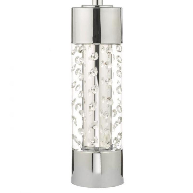 Wisebuys-YAL4208 - Yalena - Grey Shade with Glass & Crystal Table Lamp