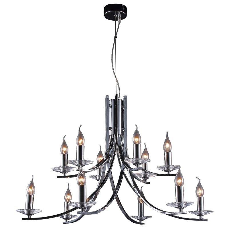 Cork Lighting-LF2613/12CR - Vulcan - Polished Chrome 12 Light Twisted Centre Fitting