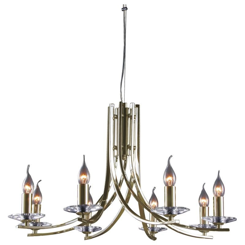 Cork-Lighting-LF2613/8AB - Vulcan - Antique Brass 8 Light Twisted Centre Fitting