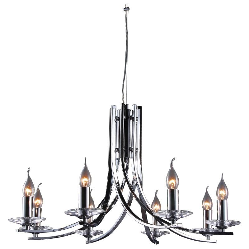 Cork-Lighting-LF2613/8CR - Vulcan - Polished Chrome 8 Light Twisted Centre Fitting