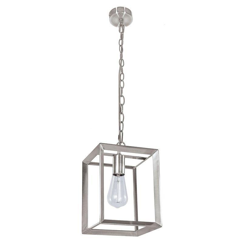 Cork Lighting-PF8608/SN - Galley - Satin Nickel Metal Cage Single Pendant