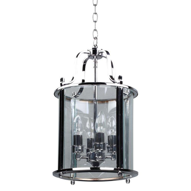 Cork-Lighting-PL4004/4CR - Lanterns - Polished Chrome with Glass 4 Light Lantern Pendant