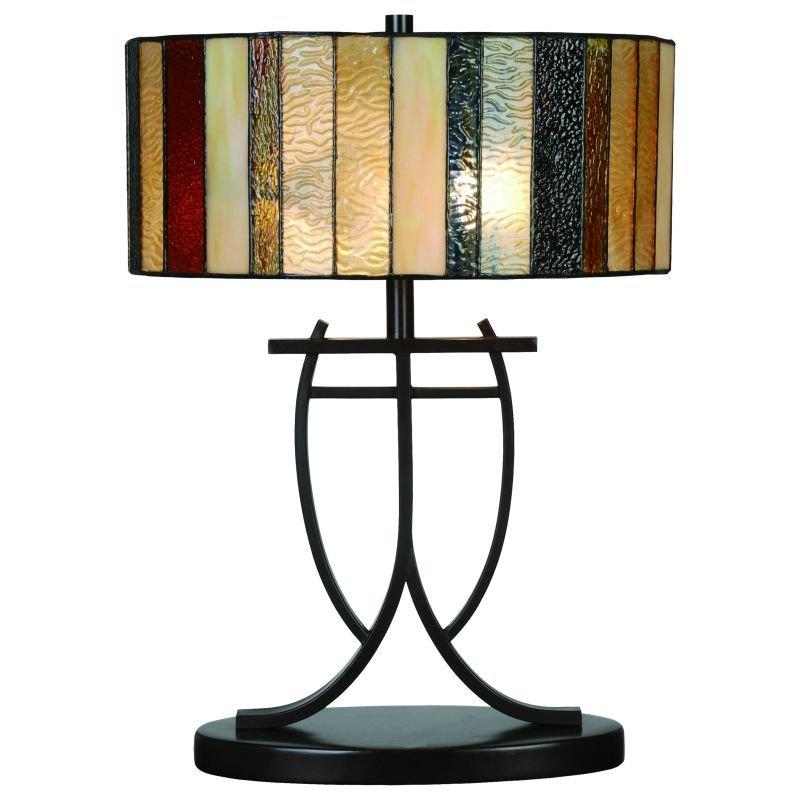 Cork Lighting-TL5806/14 - Lead - Tiffany Glass 14