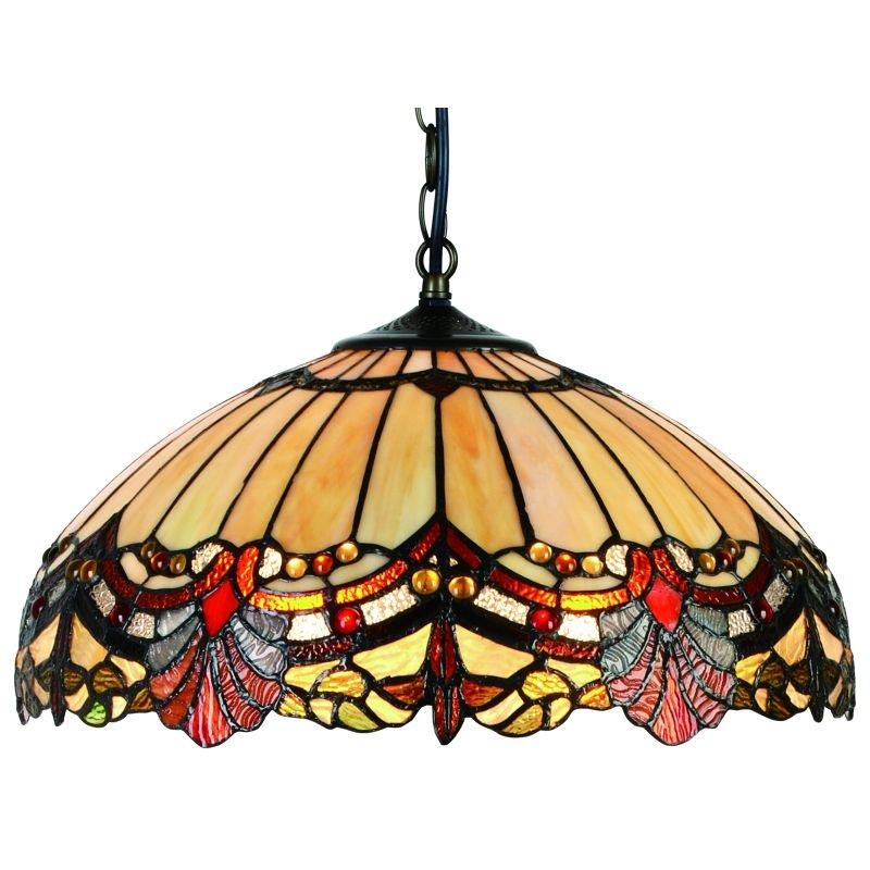 Cork Lighting-TS3809/16 - Tubetti - Tiffany Glass 16
