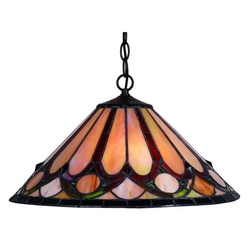 Cork Lighting-TS4501/16 - Lead - Tiffany Glass 16