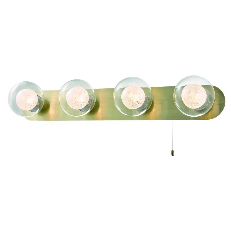 Cork-Lighting-WB16053/4AB - Acqua Globe - Antique Brass with Double Glass 4 Light Wall Lamp