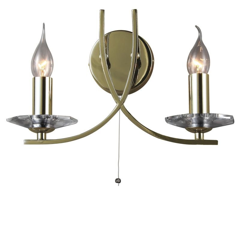 Cork-Lighting-WB2613/2AB - Vulcan - Antique Brass 2 Light Twisted Wall Lamp