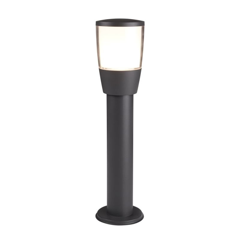 Searchlight-0598-450GY - Tucson - Outdoor White & Clear with Dark Grey Small Post