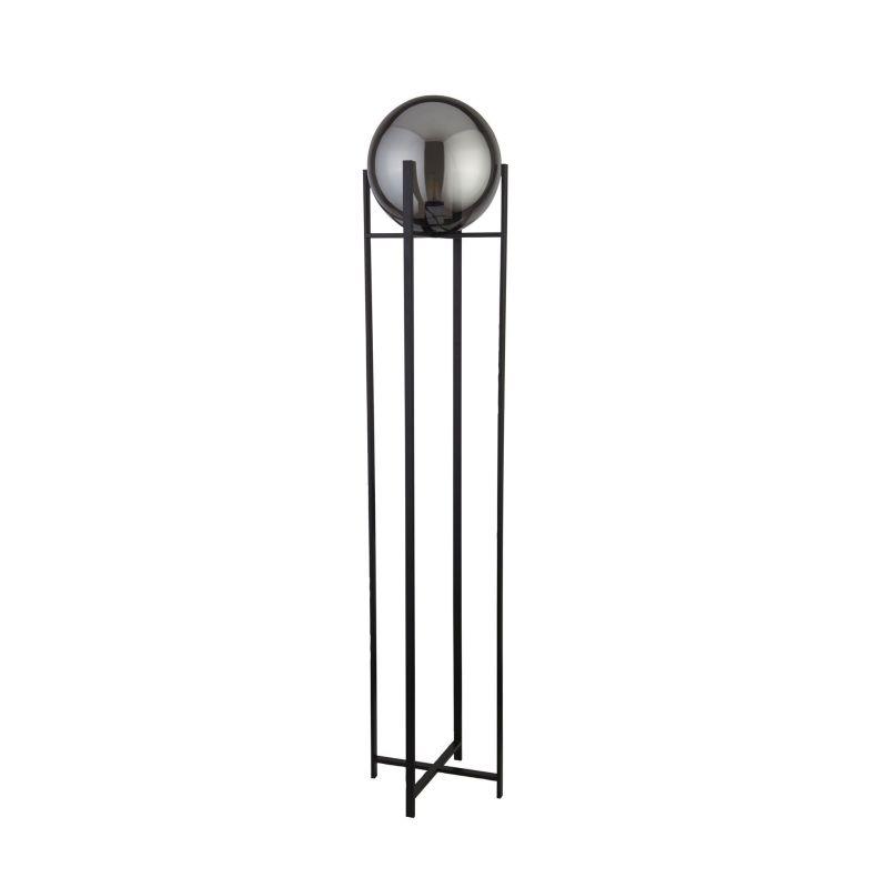 Searchlight-1030-1SM - Amsterdam - Smoky Glass & Black Floor Lamp