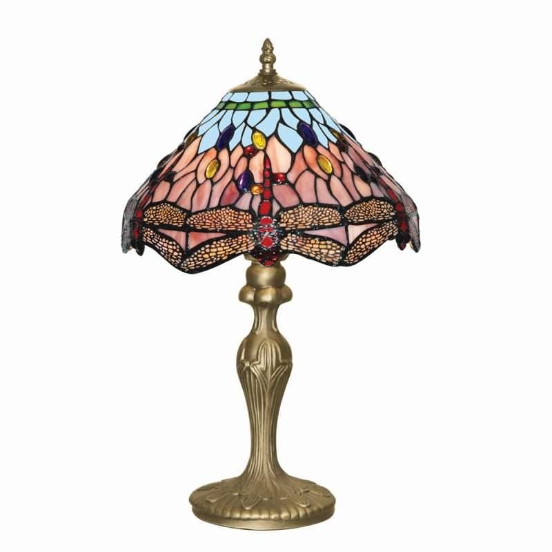 Searchlight-1287 - Dragonfly - Tiffany Glass 1 Light Table Lamp