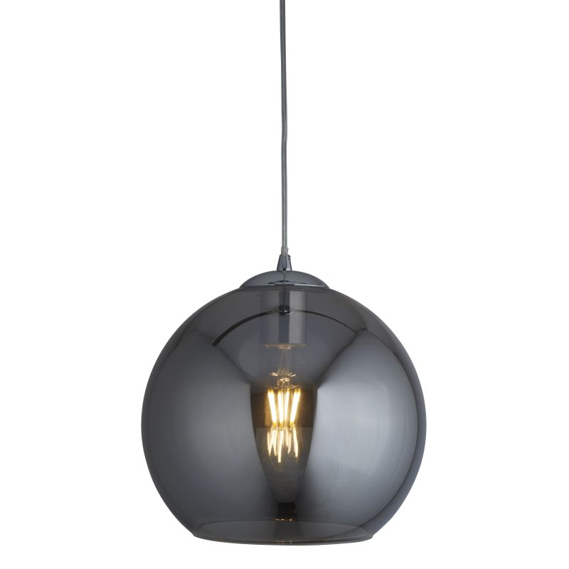Searchlight-1635SM - Balls - Smoky Glass with Chrome Globe Pendant ∅ 35 cm