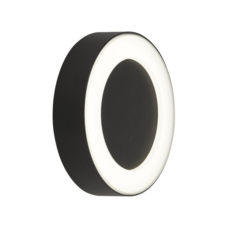 Searchlight-2841BK - Outdoor - LED Black & Frosted Wall Lamp 4000K