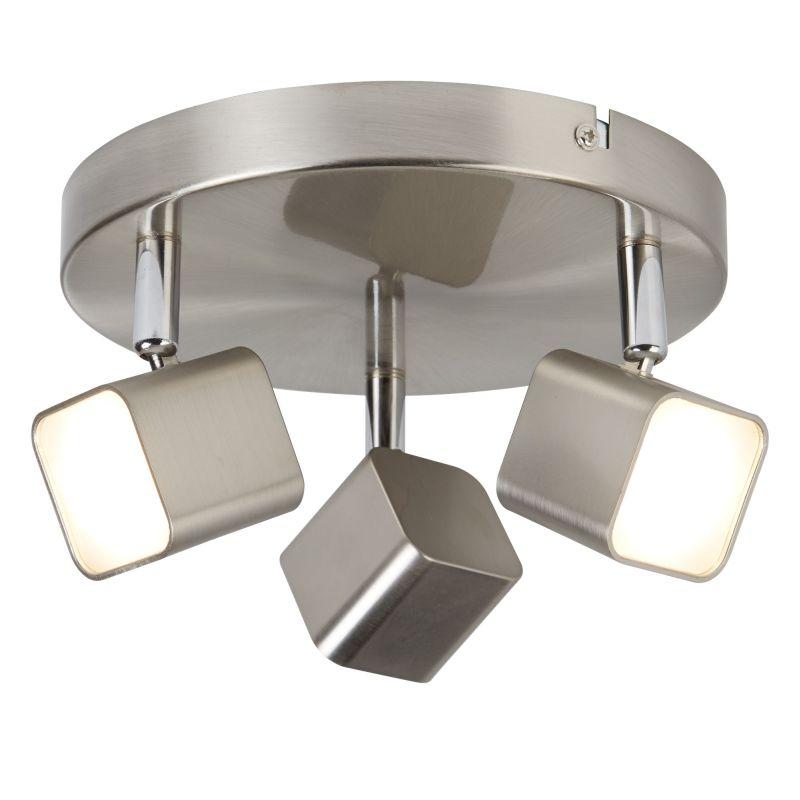 Searchlight-4233SS - Quad - LED Satin Silver 3 Light Spotlight