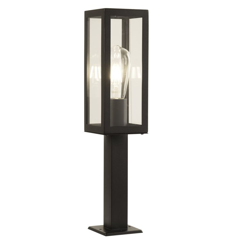 Searchlight-6441-450BK - Box - Black with Clear Glass Lantern Small Post