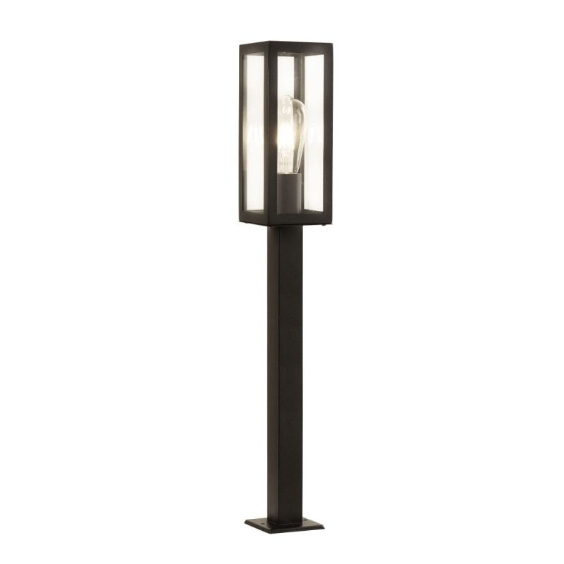 Searchlight-6441-900BK - Box - Black with Clear Glass Lantern Big Post