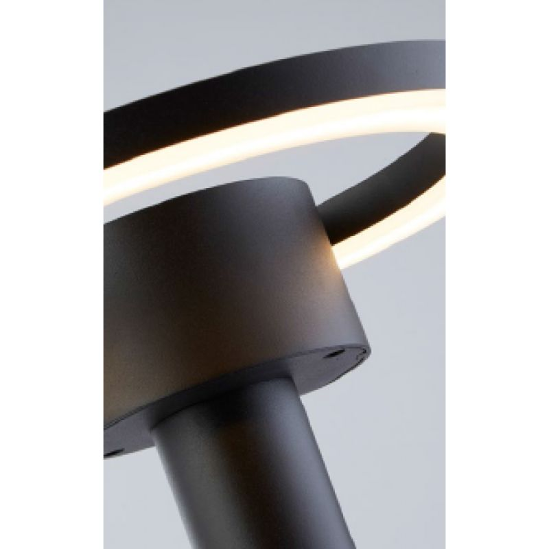Searchlight-6452BK - Outdoor - Outdoor LED Black & Frosted Post 3000K