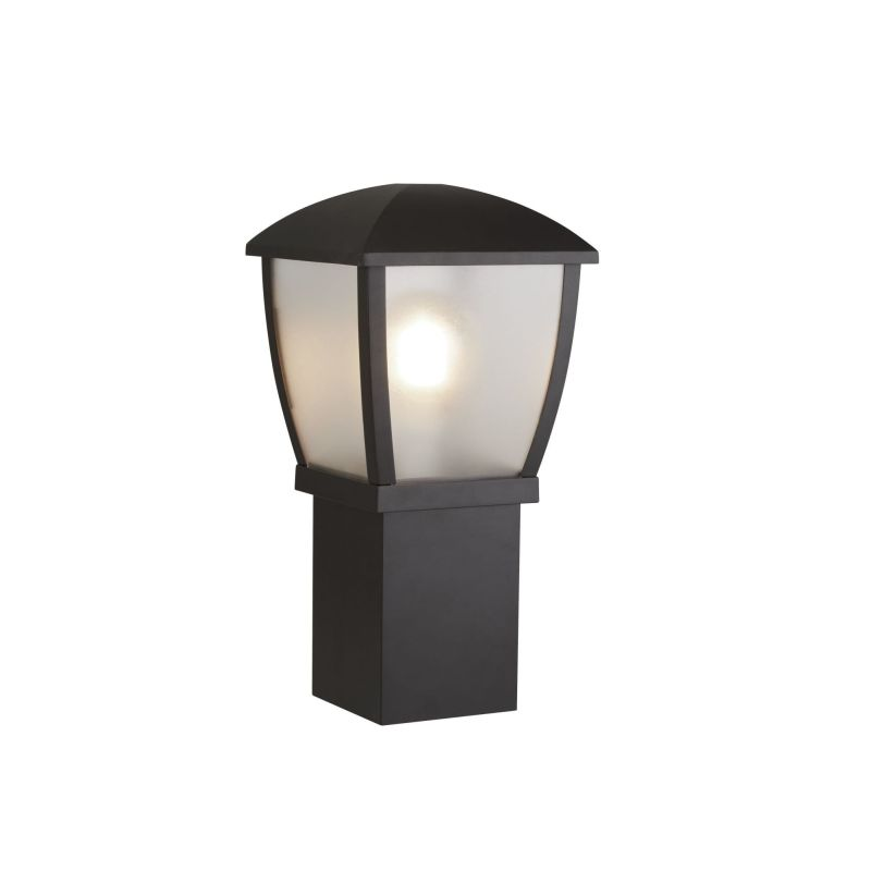 Searchlight-6591-450 - Seattle - Frosted & Black Lantern Small Post
