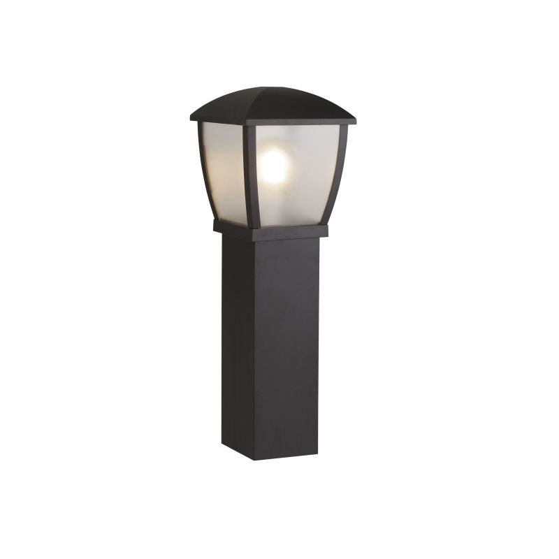 Searchlight-6591-730 - Seattle - Frosted & Black Lantern Big Post