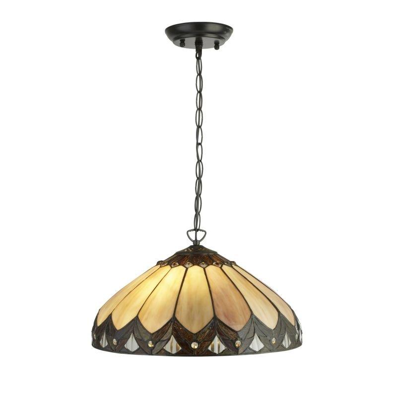 Searchlight-6702-40 - Pearl - Tiffany Glass 2 Light Pendant