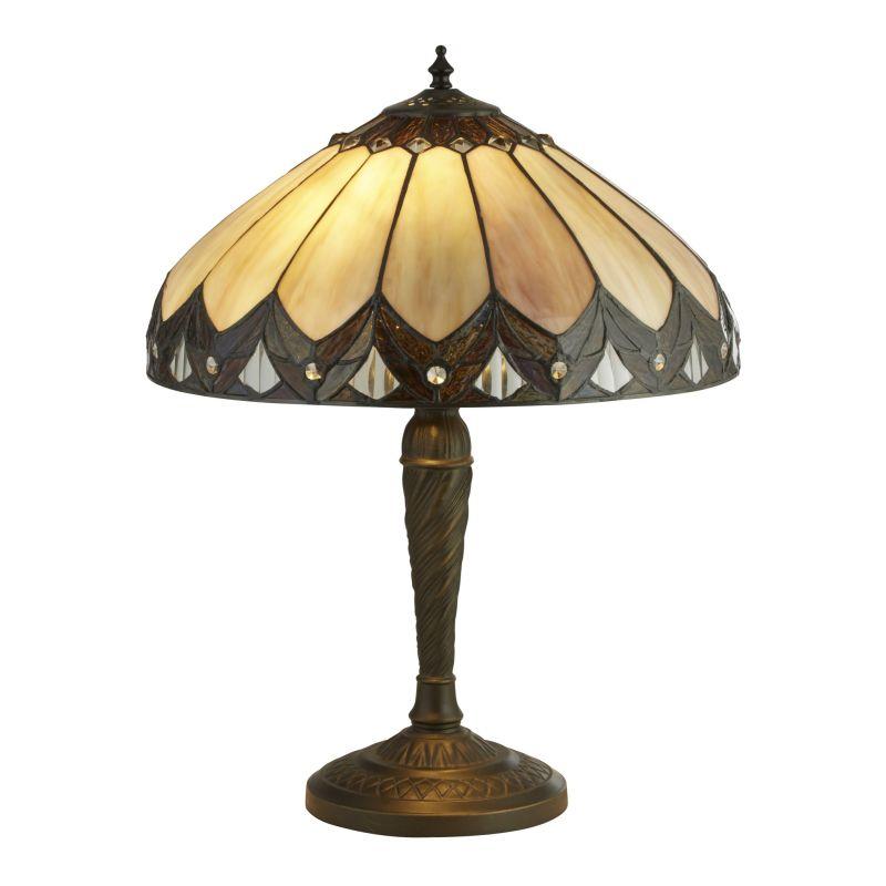 Searchlight-6706-40 - Pearl - Tiffany Glass 2 Light Table Lamp