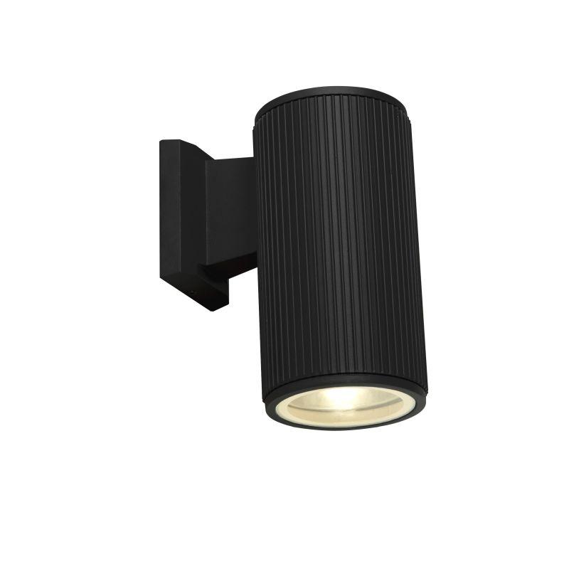 Searchlight-6871BK - Outdoor - Black Downlight Wall Lamp