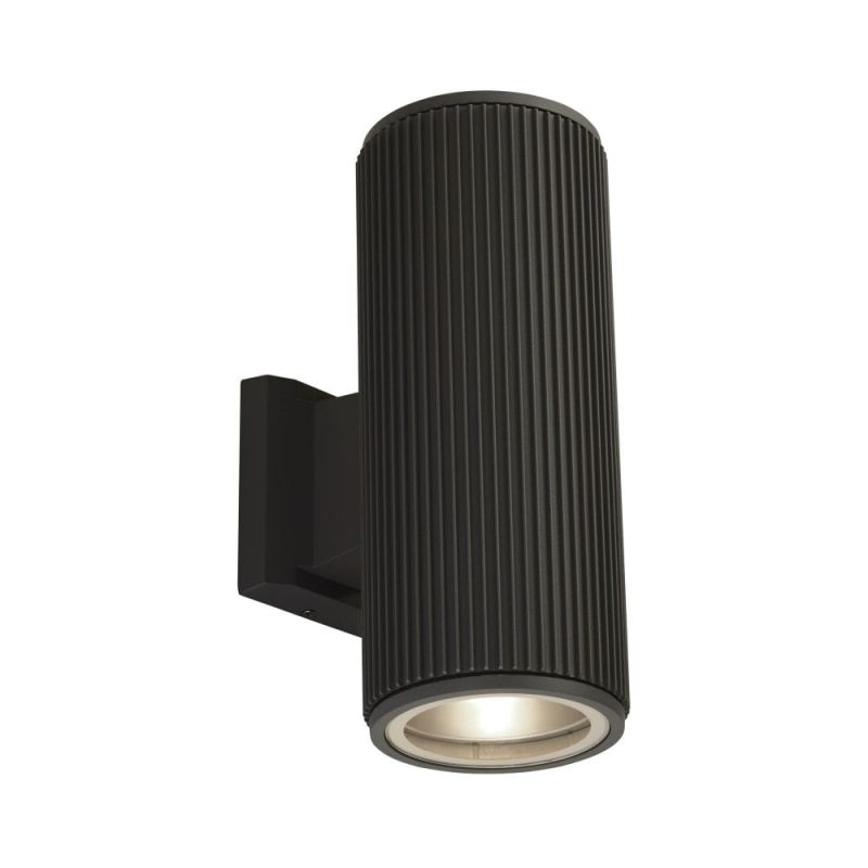 Searchlight-6872BK - Outdoor - Black Up&Down Wall Lamp