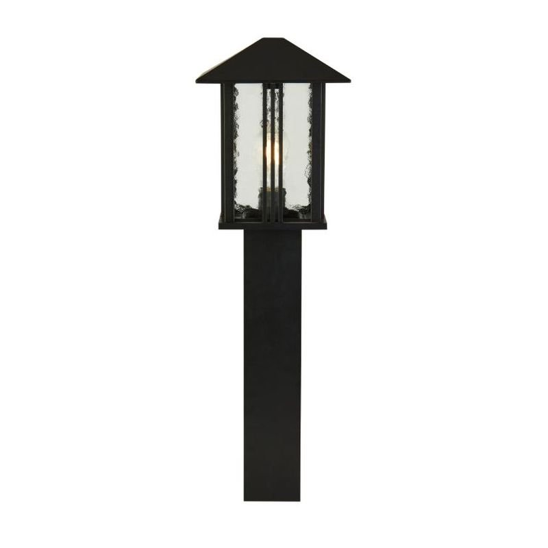 Searchlight-7925-740 - Venice - Outdoor Clear Water Glass & Black Lantern Big Post