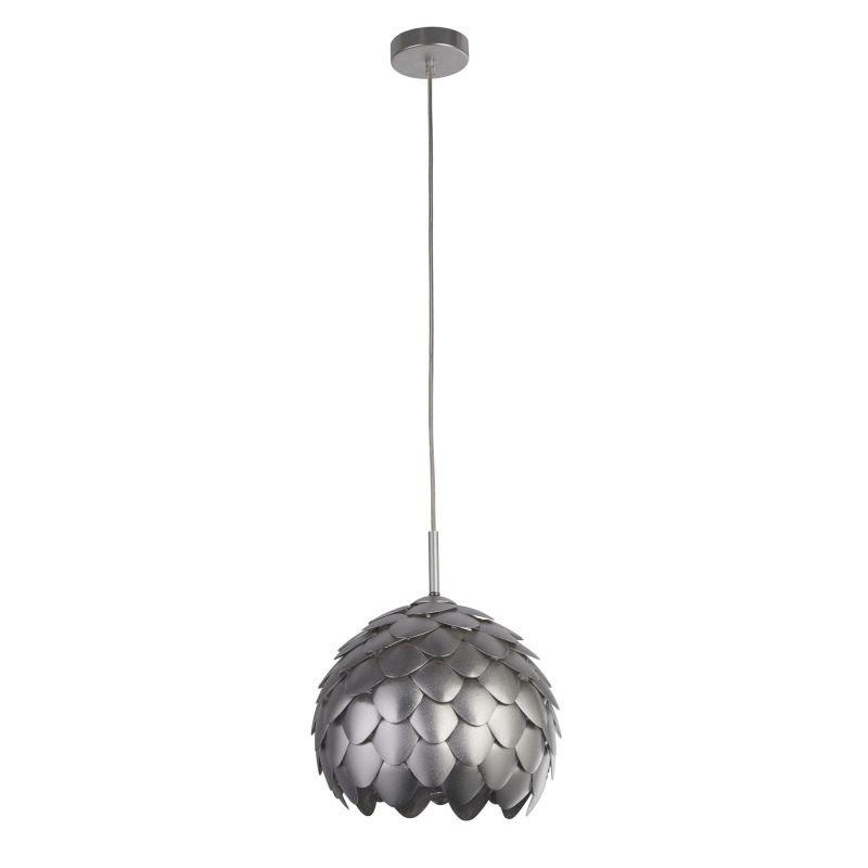 Searchlight-8190SI - Artichoke - Silver Metal 1 Light Hanging Pendant
