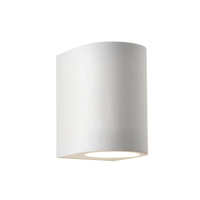 Searchlight-8436 - Gymsum - White Cylinder Plaster Wall Lamp