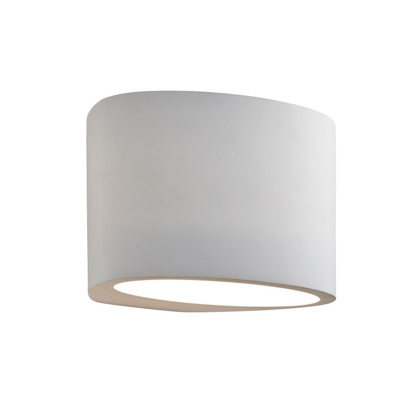 Searchlight-8721 - Gypsum - White Oval Plaster Wall Lamp