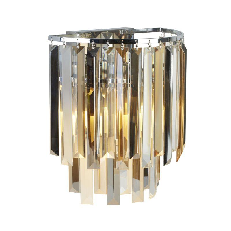 Searchlight-9832-2CC - Clarissa - Crystal with Chrome Wall Lamp