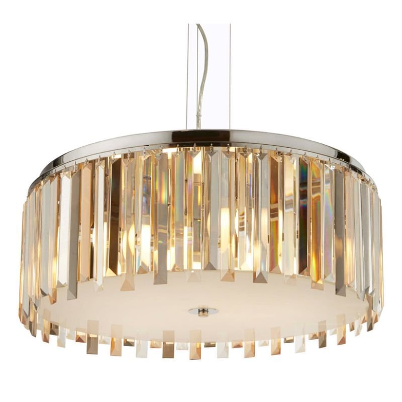 Searchlight-9835-5CC - Clarissa - Crystal with Chrome 5 Light Pendant