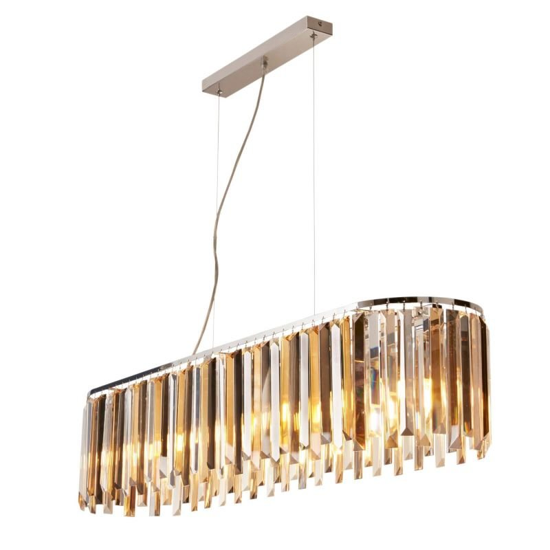 Searchlight-9838-8CC - Clarissa - Crystal with Chrome over Island Fitting
