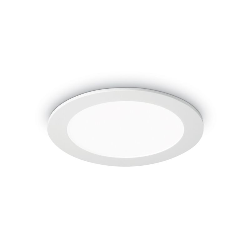 IdealLux-147666 - Groove - LED Round White Recessed Ceiling Light 800LM