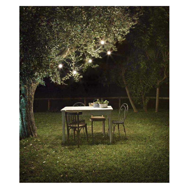 IdealLux-218724 - Fiesta - Outdoor White Cable with 5 Lights