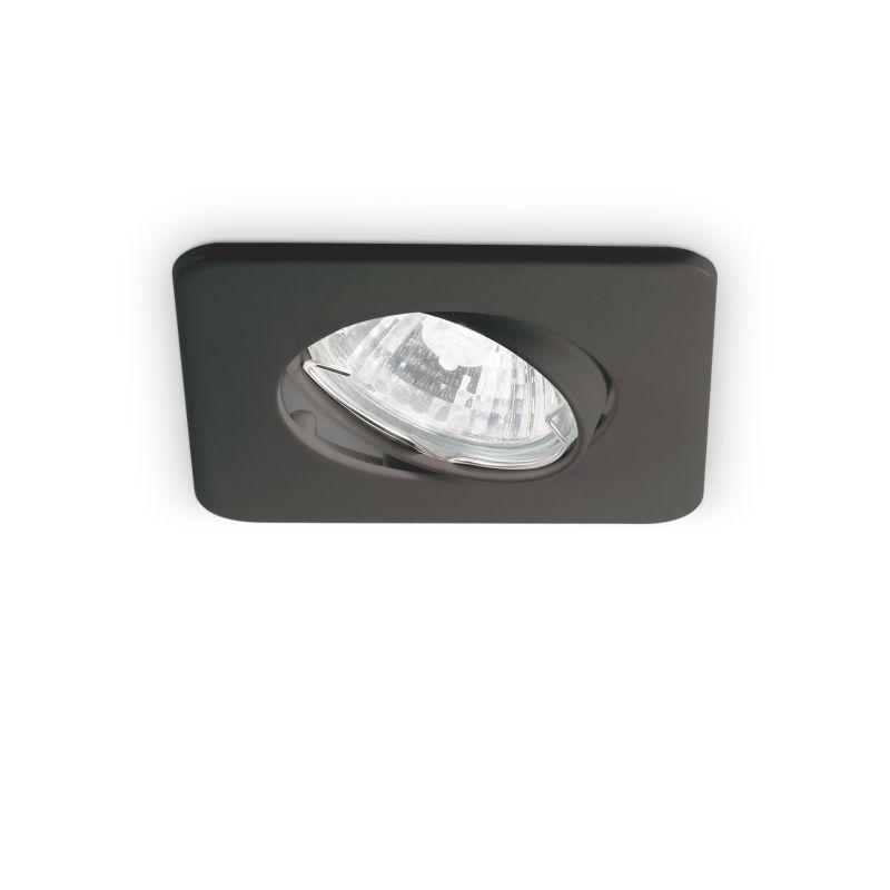 IdealLux-244600 - Lounge - Adjustable Square Black Recessed Downlight 9 cm