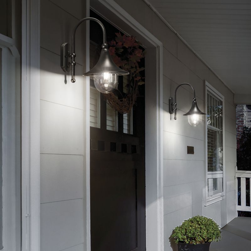 Ideal Lux-246819 - Cima - Outdoor Anthracite and Clear Wall Lamp