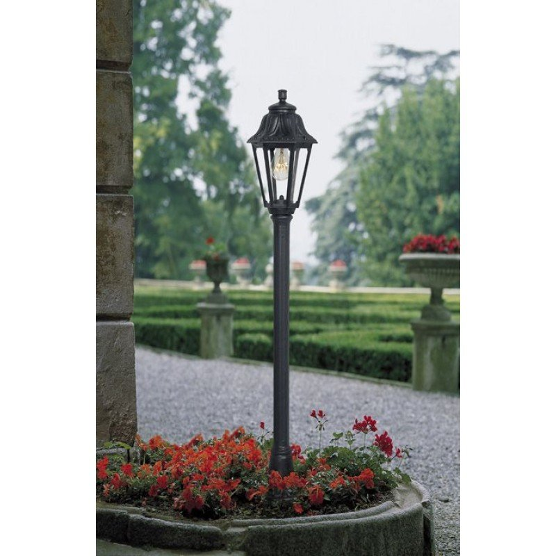 Fumagalli-Mizar-Anna - Mizar Anna - Black Hexagonal Lantern Medium Post