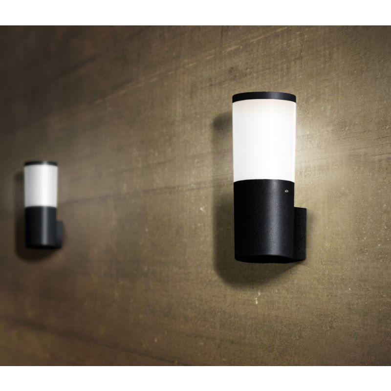 Fumagalli-FMDR2570M1LAY - Amelia - Opal White with Black Wall Lamp
