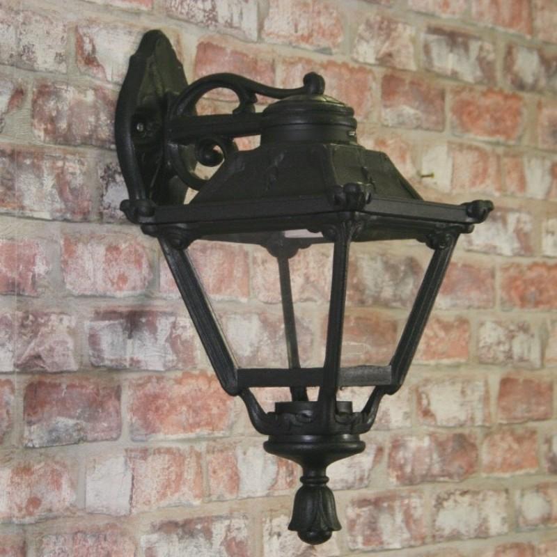 Fumagalli-FMQ23131000 - Bisso Golia - Clear with Black Lantern Wall Lamp