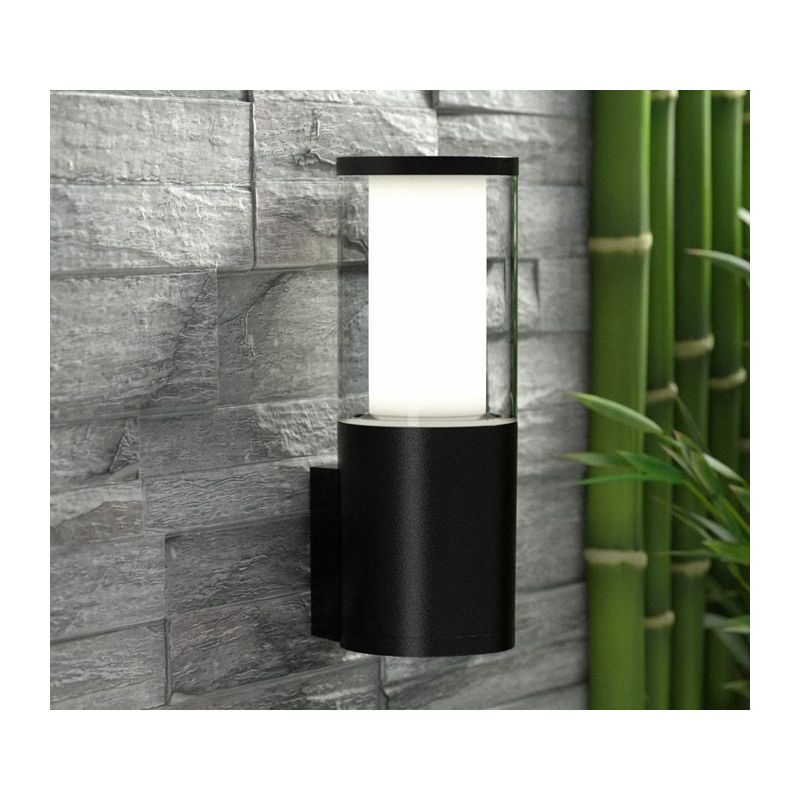 Fumagalli-FMDR1570U1LAX - Carlo - Clear & White with Black Wall Lamp
