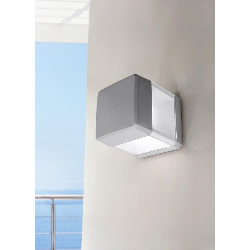 Fumagalli-FMDS2560C1LLX - Elisa - Grey and Clear Wall Lamp