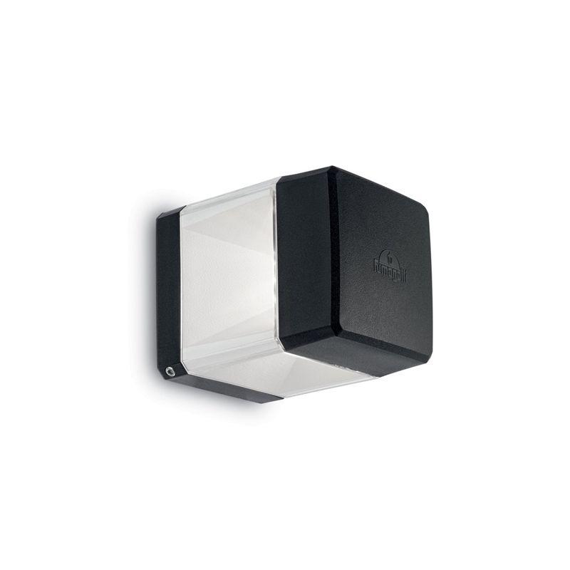 Fumagalli-FMDS2560C1LAX - Elisa - Black and Clear Wall Lamp