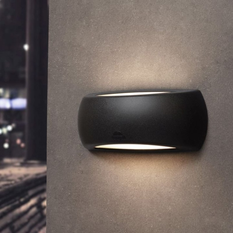 Fumagalli-FM1A1E27AY - Francy - Black Up&Down Modern Wall Lamp