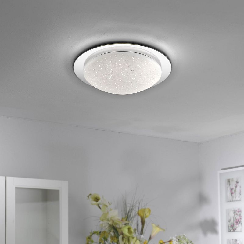 LeuchtenDirect-14332-17 - Skyler - LED Bathroom Sparkling Sky Look Large Flush